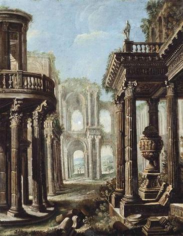 a capriccio of classical ruins by viviano codazzi