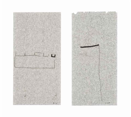untitled (ii) untitled (2 works) by mira schendel