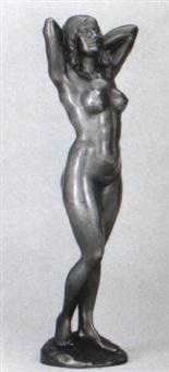 stehender wieblicher akt by gyula (julius) maugsch