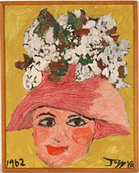 pink hat with flowers by justin mccarthy