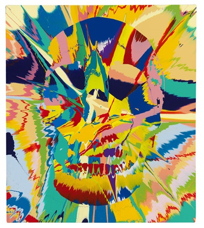 beautiful flora lunacy painting by damien hirst