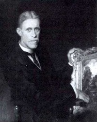 portrait of a collector by hugh goldwin riviere