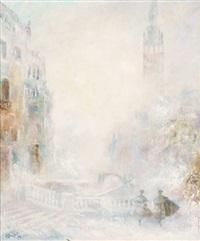 tourbillon de neige sur venise by leopold m. baijot
