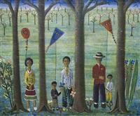 familia con cometas by miguel rivera bagur