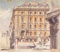 capriccio: neuer markt, mozartdenkmal, oper by ernst graner