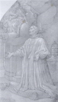 saint gregory the great in prayer by agostino ciampelli