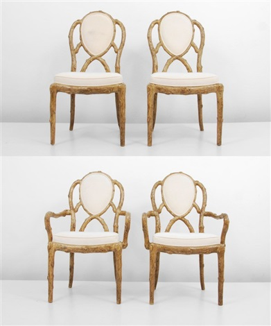 Faux Bois Chairs (4 Works) By Mcguire Company