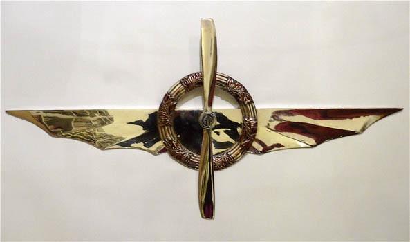 ali dargento con corona fiori viola ed elica incrociata by gianni piacentino