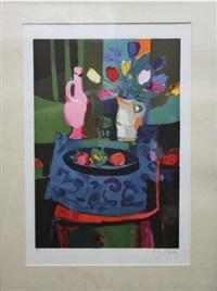 guéridon à la carafe rose by marcel mouly