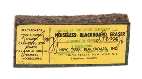noiseless blackboard eraser by joseph beuys