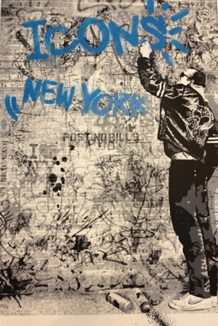 icons new york by mr brainwash