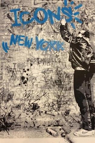 icons new york by mr brainwash