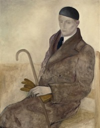 a portrait of the artist theo stiphout by ger (gerardus petrus) langeweg