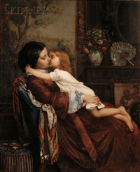maternal affection, mother and child by auguste toulmouche