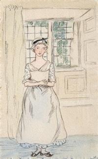 jeune femme dans son intérieur by xénia alexandrovna