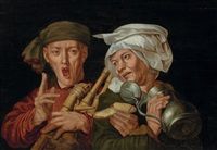the bagpipe player by pieter huys