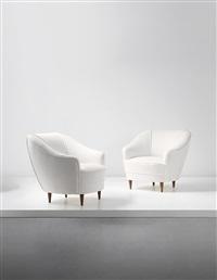 armchairs, designed for casa e giardino (pair) by gio ponti