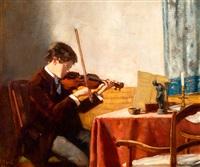 hans kindler als jonge violist by solomon garf