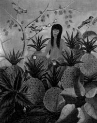 woman among pineapples by adam leontus