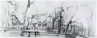morningside heights at 117th st. by rackstraw downes