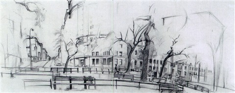 morningside heights at 117th st by rackstraw downes