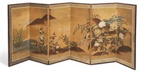 untitled (6 panel folding screen) by japanese school-kano (19)