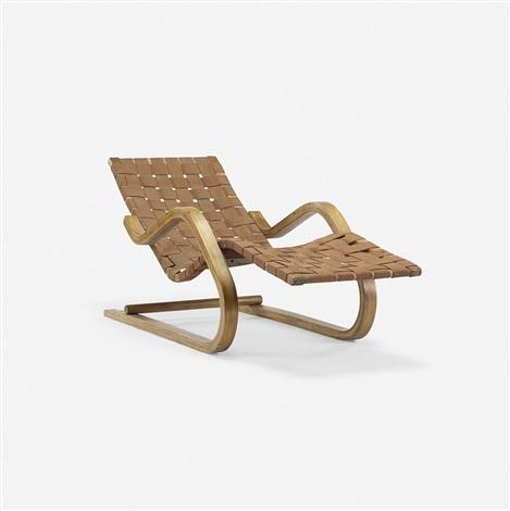 Cantilevered chaise model 39 by alvar aalto on artnet for Chaise 65 cm design
