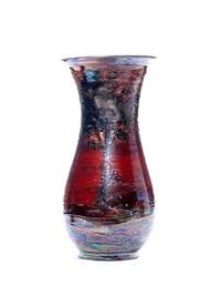 scarlet sunset large landscape vase by lise b moorcroft