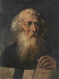 brustbild des heiligen dominikus, des gründers des dominikaner-ordens by franz xaver wagenschön