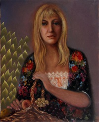 mrs. potemkine portrait by edouard zelenine