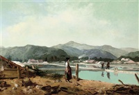 gathering water at the reservoir, hyères, france by philippe auguste jeanron