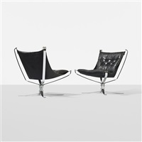 falcon chairs (pair) by sigurd ressell
