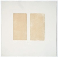 untitled (from seven aquantints) by robert ryman