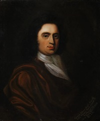 portrait of george palmer in a brown mantel and white chemise by edward burgoigne