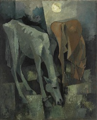 untitled (horses) by mohammed kibria