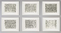 cold mountain series, zen studies 1-6 (set of 6) by brice marden