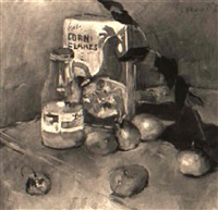 still life with cereal by louis bouché