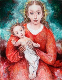 madonna and child by felix baumhauer