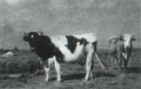 cows in a dutch landscape by j. ogden wood