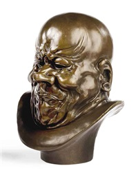 model of a grimacing head by franz xaver messerschmidt