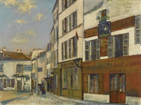 restaurant de la mère catherine, place du tertre, rue norvins à montmartre by maurice utrillo