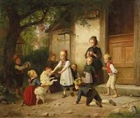 blindekuh-spiel by heinrich leinweber