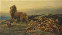 the king and his satellites by briton riviere