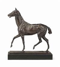 cheval marchant au pas relevé by edgar degas