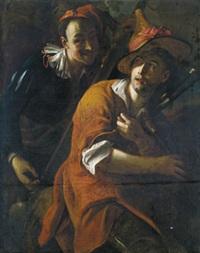 zwei musikanten - due musicanti by salomone adler