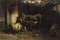 in the barn by gerard johannes bos