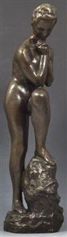 mädchen mit aufgestütztem bein by wilhelm lehmbruck