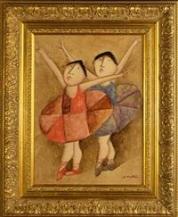 danseurs-joueurs de ballon (pair) by jose d. roybal
