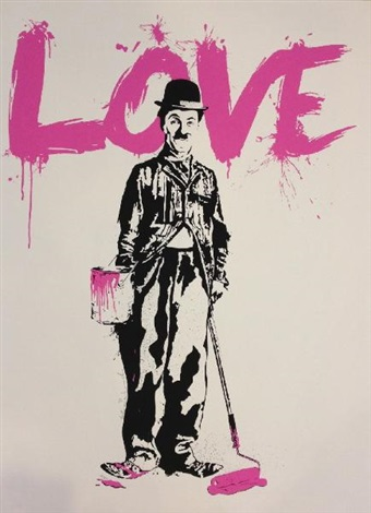 love chaplin by mr brainwash