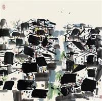 近水民居 by wu guanzhong